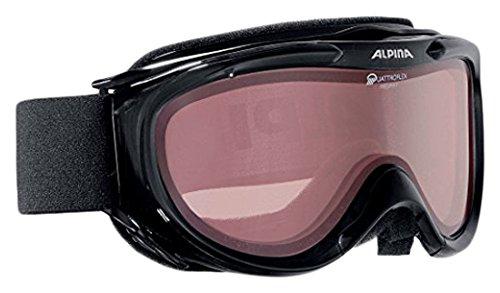 ALPINA Skibrille Freespirit, schwarz transparent qlh (black transparent qlh), One size, A7008-031,