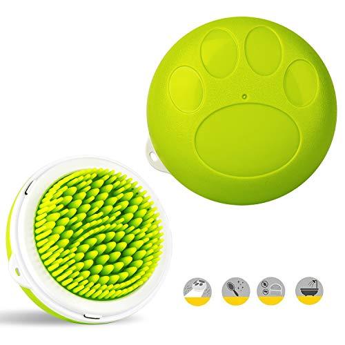 YOURDER Pet Brush Dog Groming Brush-Pet Shampoo Brush 3 in 1 Pet Bath Brush Grooming Massage Brushes...