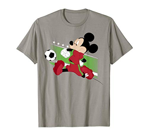 Disney Mickey Mouse Portugal Soccer Uniform Portrait T-Shirt