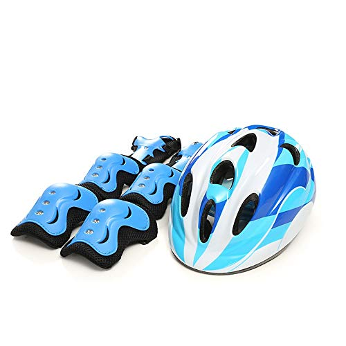 boaber Child Safety Riding Helmet Mountain Road Bicycle Roller Skating Shock Absorbing Riding Equipment Riding Protective Gear (Color : Blue, Size : No protective gear)