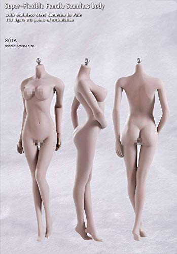 NEDTO 1/6 Female Flexible Steel Stainless Nude Body Seamless Girl Figure Doll