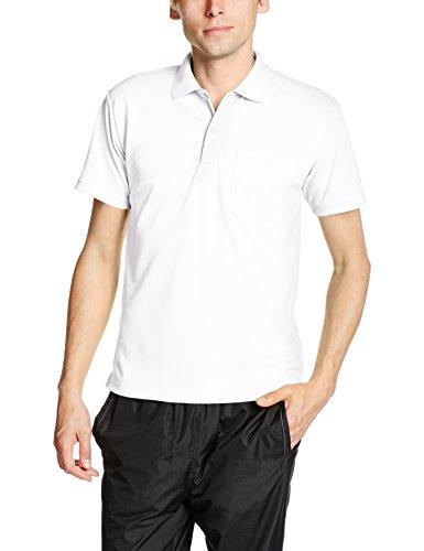 [グリマー] 半袖 4.4オンス ドライ ポロシャツ [ポケット付] 00330-AVP メンズ ホワイト LL (日本サイズLL相当)