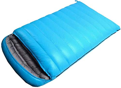 Wuyeti Doble Bolsa, Gran Dormir for Adultos y Niños - Excelente Equipo de Camping Gear, Viajar y Actividades al Aire Libre, Azul