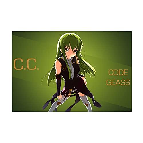 HQHQH Code Geass Lelouch of The Rebellion C.C Wooden Rompecabezas de Madera de Anime Rompecabezas de Juegos de Juguete de descompresión Familiar (500pcs)