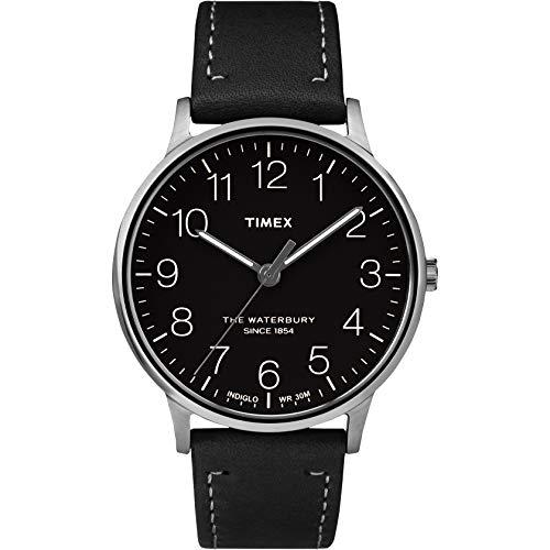 Timex Reloj Analógico para Hombre de Cuarzo con Correa en Cuero TW2R25500