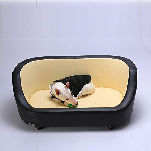 N/ Pet Sofas Large And Medium Sized Full Labrador Golden Retriever Cat And Dog Sofa Pet Bed Large And Medium Sized Kennels Akita-Black_S-Small