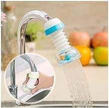 Rexez Anti-Splash Expandable Head Nozzle Bathroom Tap Adjustable Splash Sprinkler Head Sprinkler Water Saving Device Faucet Regulator (Multi Color)