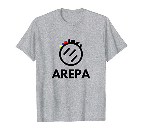 Arepa logo tricolor de diseño moderno colores venezolanos Camiseta