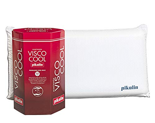 PIKOLIN, Almohada viscoelástica Premium de 70 cm, firmeza Media, refrescante tecnología Cool Space, desenfundable, Visco Cool