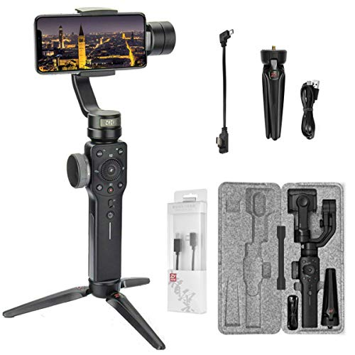 Zhiyun Smooth 4 3-Asse Gimbal Stabilizzatore Per Smartphone iPhone Xs X 8 7 Plus Android Samsung S9 S8,Gopro,Focus Pull/Zoom,Modalità Phonego(Nuovo Smooth Q Ver + ZHIYUN Tipo-C Cavo di ricarica)