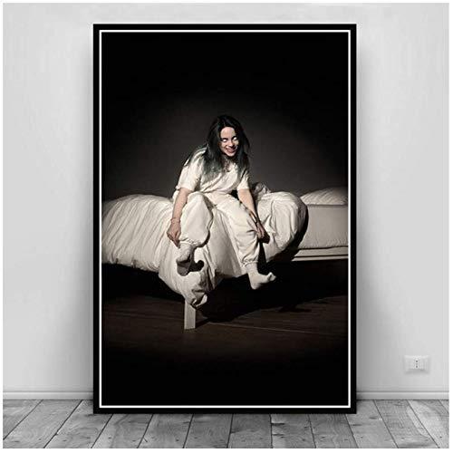 Poster en afdrukken We allen vallen Asleep Bury vriend Pop Star Art Schilderen Muurfoto's voor Woonkamer Home Decor -60x80cm Geen Frame
