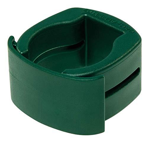 GAH-Alberts 655938 Fix-Clip Pro® | zur Befestigung von Schweißgittern an Zaunpfosten | Kunststoff, grün | für Pfosten-Ø 34 mm