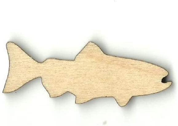 Fish - Laser Cut Out Unfinished Max 79% OFF DLET New item Supply Wood Shape Craft No