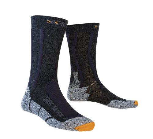X-Socks Funktionssocken Trekking Silver Socken, Black/Anthracite, 35-38