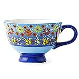 LYJ Plato de cena de porcelana creativo tazón y placa combinación de cerámica pintada a mano plato cena conjunto cena/ensalada/fruta/bocadillo, E