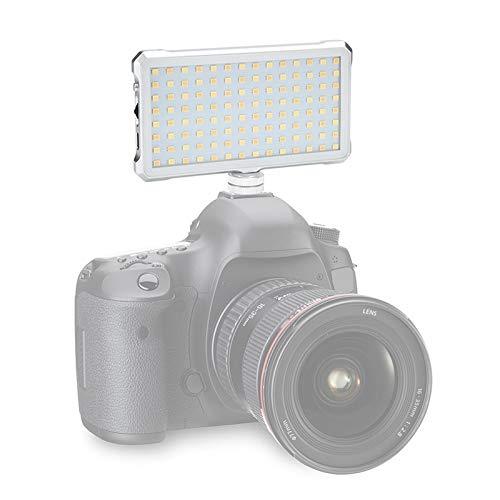CAMERAACCESSORIES / F12 Pocket 112 Leds 1080LUX Professional Vlogging Fotografia Video y Foto de Estudio Luz con Pantalla OLED para Canon/Nikon DSLR Cameras, Tu Ayuda De Fotografía