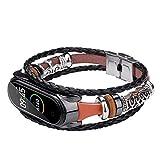 BAIRU - Correa de repuesto para reloj de pulsera de cuerda trenzada étnica (correa de metal trenzada), color marrón
