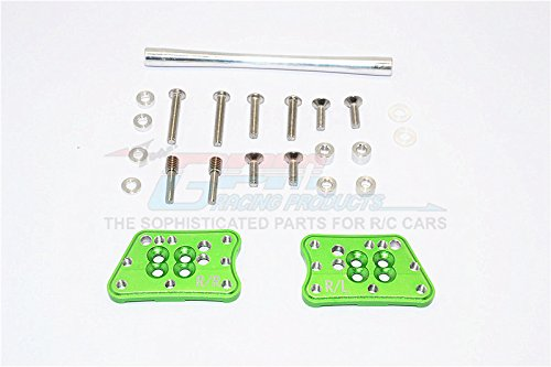 Axial SCX10 II Upgrade Pièces (AX90046, AX90047) Aluminium Rear Adjustable Mount for Original Shock Tower - 1Pr Set Green