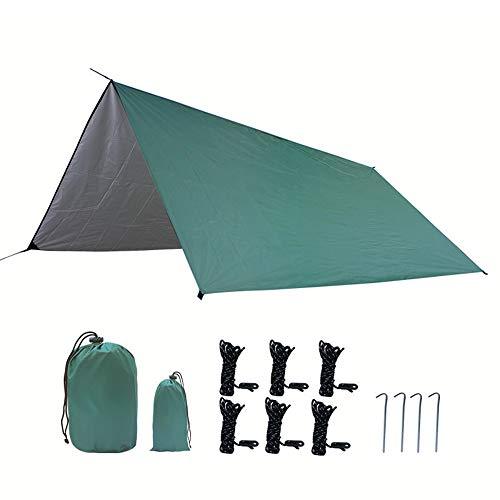 HIOD 300cm X 300cm Toldo de Refugio Camping Viajes Portátil Ultraligero Impermeable A Prueba de Viento Refugio para Acampar para Sombrilla de Nieve,