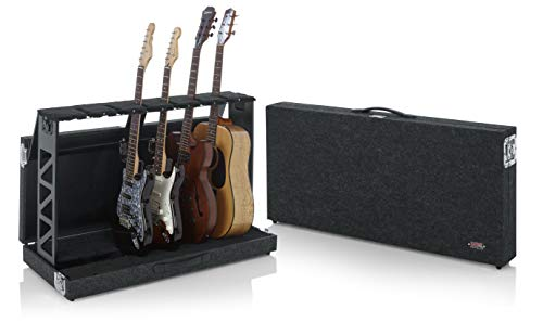 Gator Cases Rack Style Guitar Stand; Holds up to (6) Acoustic, Electric, or Bass Guitars (GTRSTD6)