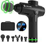 AERLANG Massage Gun for Athletes, Portable Quiet Muscle Massager Professional Deep Tissue Massage Gun for Pain Relief 20 Variable Speeds Digital Display- Includes 6 Massage Heads 24v 2500mAh (Black)