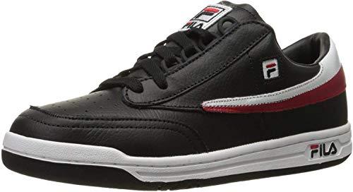 Fila Men's Original Tennis Fashion Sneaker, Black/White Red, 11 M US