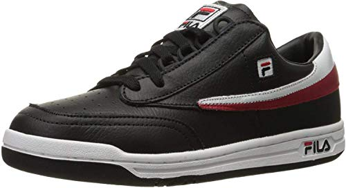 Fila Men's Original Tennis Fashion Sneaker, Black/White Red, 13 M US