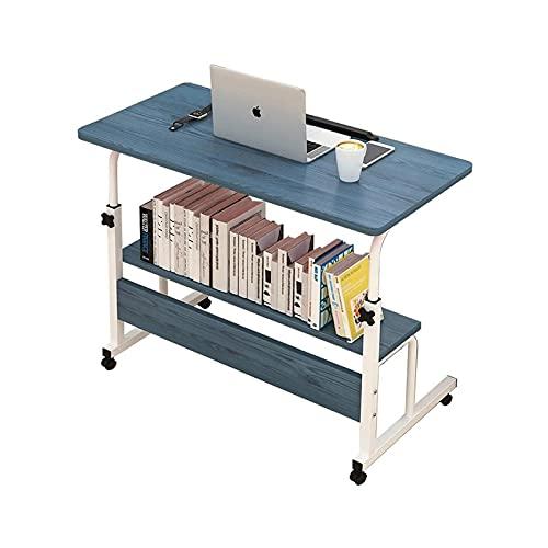 Escritorio de pie Mesa Plegable para computadora Escritorio portátil Ajustable para computadora portátil Girar la Mesa de la Cama para computadora portátil Se Puede Levantar Escritorio de pie para l