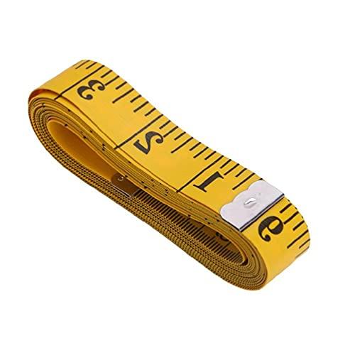 KunmniZ Regla de medición Corporal portátil para Coser Cinta métrica Plana Suave 150cm 60'Reglas de Costura para acolchar