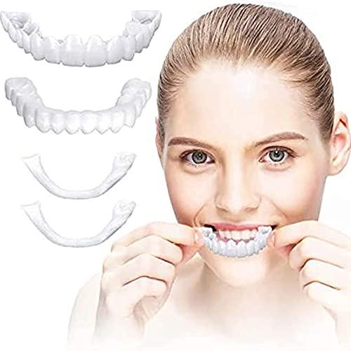 GBNL Instants Veneers Dentaduras Dentes Falsos Lindos Suspensórios Perfeita e Clareamento Alternativo Instant Perfect Smile Cover Os dentes Imperfeitos, Ajuste Confortável para Homens e Mulheres