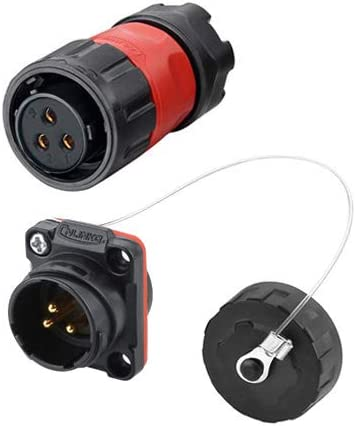 CNLINKO 3 Pin Power Industrial Max 62% OFF Connector Female Plug Circular Max 54% OFF