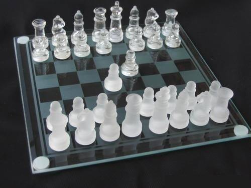 AJEDREZ GRANDE DE CRISTAL VIDRIO ajedrez Juego 839 IDEA 636 REGALO