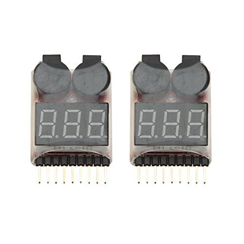 GoolRC 5pcs 1 8S Indicator RC Li-ion Akku Lipo Tester Low Voltage Alarmton Buzzer Alarm