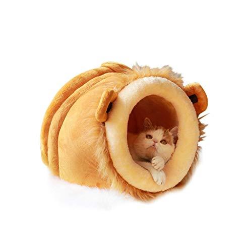 Dirgee Nido de Mascotas, Basura, cálida, camada de Gato Cerrada, Bolsa de Dormir del Gato de la casa, Casa de Gato, Cama para Mascotas (Tamaño: 30 * 36 * 38cm) (Size : 38 * 48 * 45cm)