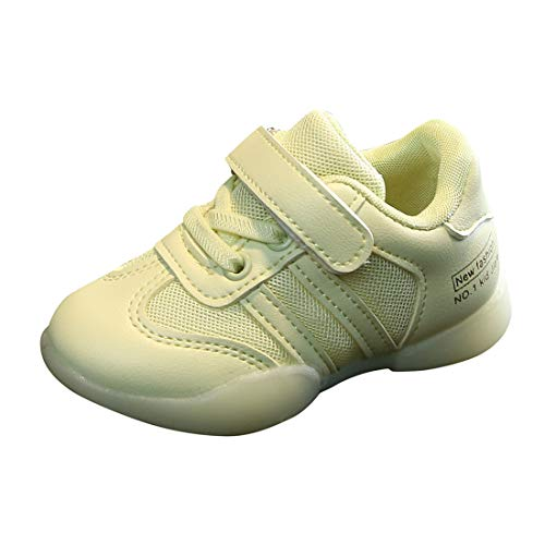 Baby Boys Girls Autumn Candy Board Shoes Mesh Ventilation Soft Bottom Sneakers Kids Casual Running Sport Shoes (Green, 4-4.5Years)