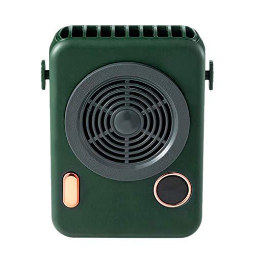 Homoyoyo Mini Ventilador Portátil de Cuello con Pilas Ventilador Colgante de Mano Ventilador de Escritorio Personal Oficina en Casa de Verano para Ventilador de Refrigeración Viajes Al