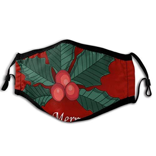 Mundschutz Mistelzweig Rote Beeren Wiederverwendbare Gesichtsbedeckung Sturmhaube Waschbare Outdoor-Nasen-Mund-Abdeckung Mode
