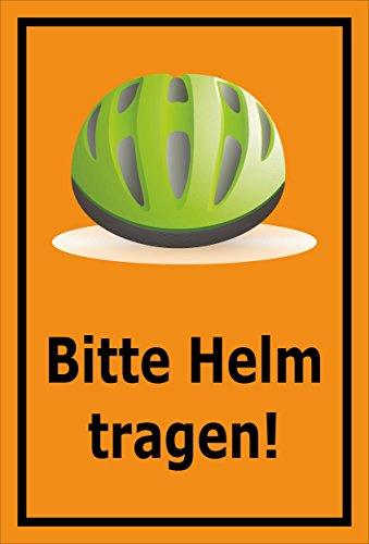Melis Folienwerkstatt sticker schild - Gelieve helm te dragen - S00050-090-E 60x40cm – Hartschaumplatte – mit Bohrlöchern