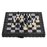 AVOA Ajedrez 1 unid plástico antiguo viaje internacional ajedrez conjunto mini portátil magnético plegable tablero clásico camping juego juguete niño regalo ajedrez tablero