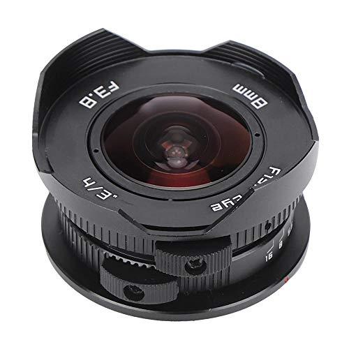 Yunir Obiettivo Fisheye da 8 mm F3,8 Messa a Fuoco Manuale grandangolare 180 ° per Fotocamera mirrorless Olympus M4 3, per EPM1, EPM2, EPM1, E-PL1, E-PL2, E-PL3, E-PL5, E-PL6, E- PL7, E-PL8, E-PL9