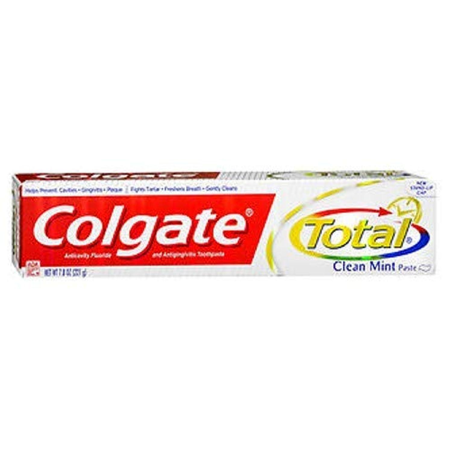 ゴールデン航空クリップColgate 総フッ化物の歯磨き粉クリーンミント、7.80オンス(4パック)