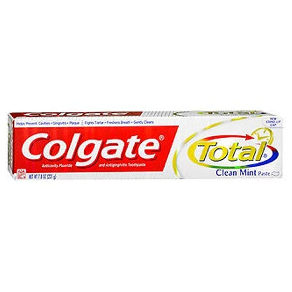ベットスポーツマン気取らないColgate 総フッ化物の歯磨き粉クリーンミント、7.80オンス(4パック)