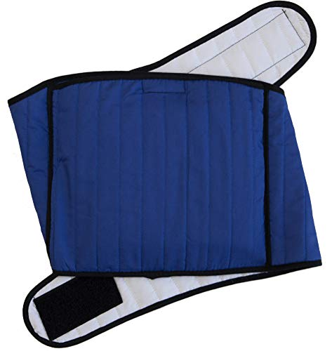 Hottles Soothing Microwavable Heating Pad & Heat Wrap for Lower Back, Shoulder & Neck Pain Relief - Comfortable and Stylish Quilted Cotton - Blue