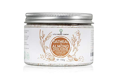 Oatmeal & Almond Face Scrub with crushed Walnut Shells – a blend of...