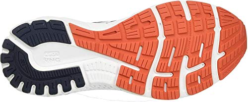 Brooks Men's Adrenaline GTS 21 Running Shoe - Navy/Red Clay/Gray - 10