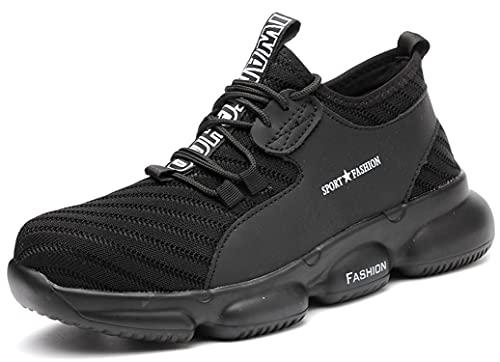 [SUADEX] おしゃれ あんぜん靴 安全靴 スニ一カ一 作業靴 黒 工事 現場靴 通気性 鋼先芯 耐摩耗 防刺 耐滑 ワークシューズ セーフティーシューズ