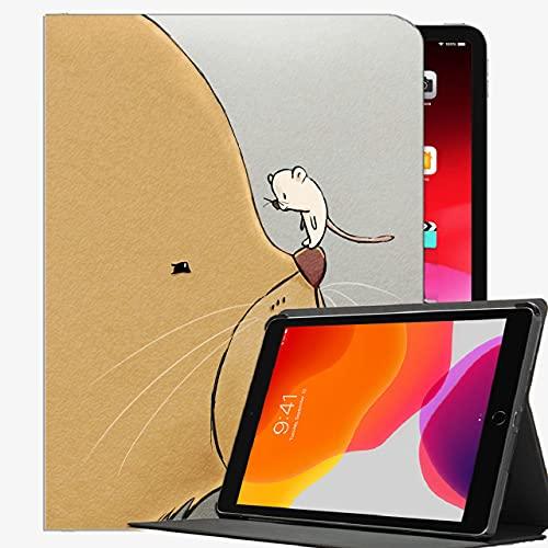 Custodia per iPad Air 2 9.7 'Copertura della custodia, Cat Mouse Art Case Slim Cover Shell per iPad iPad Air2 9.7 pollici