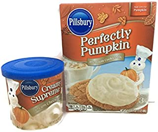 Pillsbury Perfectly Pumpkin Cookie Mix and Pillsbury Cream Cheese Frosting Bundle