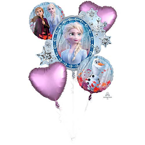 Amscan 4038901 Disney Frozen - Ramo de globos de papel de aluminio (2 unidades) , color/modelo surtido