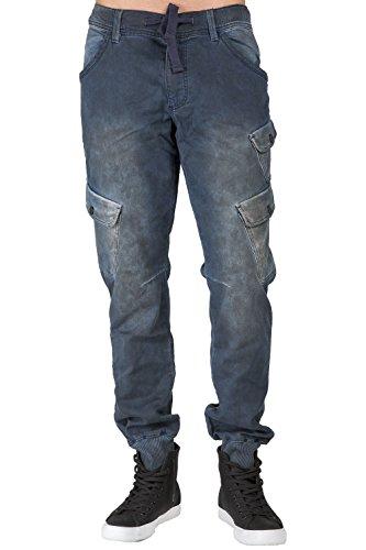 Level 7 Men's Premium Knit Denim Jogger Jeans Tainted Indigo